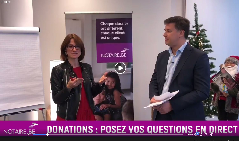 Donations : découvrez les réponses à vos questions dans notre facebook live !