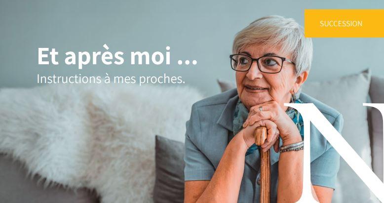 """""""Et après moi ? Instructions à mes proches"""" : une brochure pour aider vos proches après votre décès"""